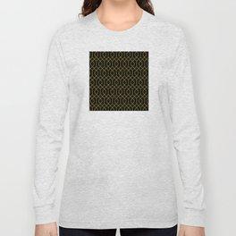 New York City Gold and Black Art Deco Long Sleeve T-shirt