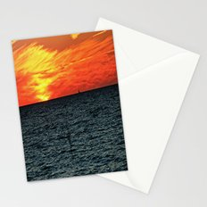 fire in the sky Stationery Cards