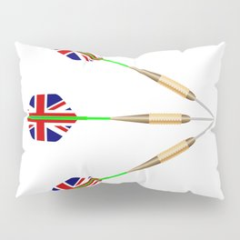Darts With Union Jack Flag Pillow Sham