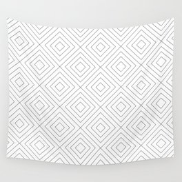Squares white Wall Tapestry