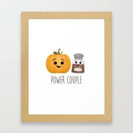 Pumpkin + Spice = Power Couple Framed Art Print
