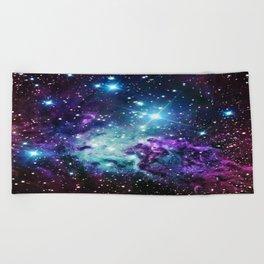 Fox Fur Nebula : Purple Teal Galaxy Beach Towel