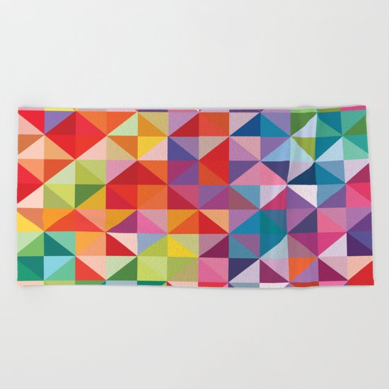 Geometric World No. 1 Beach Towel