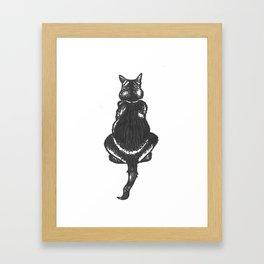 chat noir Framed Art Print