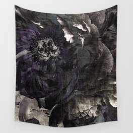 goth peony Wall Tapestry