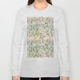 olive branches pattern Long Sleeve T-shirt
