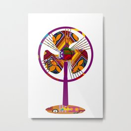 Creative spirit creates wind Metal Print