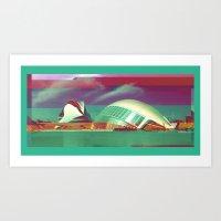 Valencia, Spain   Project L0̷SS   Art Print