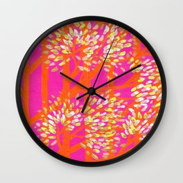 Blush Orange Trees Wall Clock