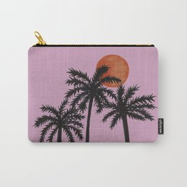 Palm Trees and Orange Sun Carry-All Pouch