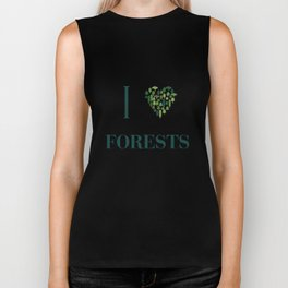 I heart Forests Biker Tank