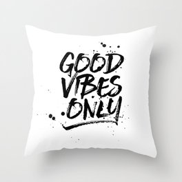GOOD VIBES ONLY (GRUNGE) Throw Pillow