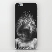 wind iPhone & iPod Skins featuring Wind by Illustratic