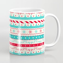 Christmas Candycane Mouse Ears Heartbeat Coffee Mug