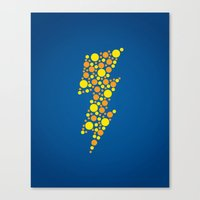 lightning Canvas Prints featuring Lightning by Danielle Podeszek