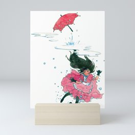 Playing in Puddles Mini Art Print