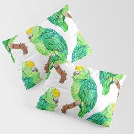Sleepy Parrot Watercolor Pattern Pillow Sham