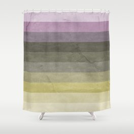 Green and Purple Abstract Pattern Shower Curtain
