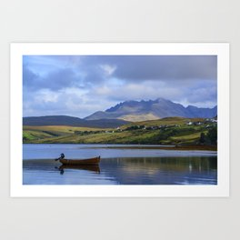 Loch Harport and the Cuillins 2 Art Print
