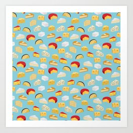 Cheese food gifts food fight apparel and gifts Art Print