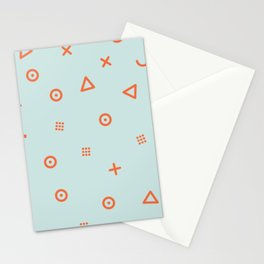 Happy Particles - Light Green Stationery Cards