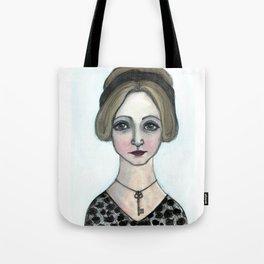 "Anais Nin Literary Portrait, ""Winter of Anais"" Tote Bag"