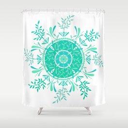 Leaflets – Mint Ombré Palette Shower Curtain