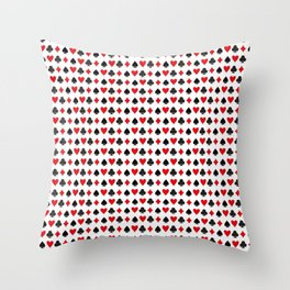 Playing Cards Pattern Throw Pillow