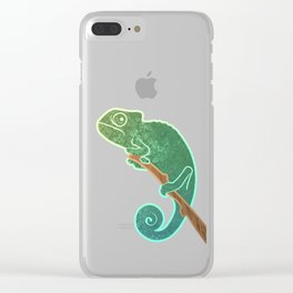 The Ever Watchful Chameleon Clear iPhone Case