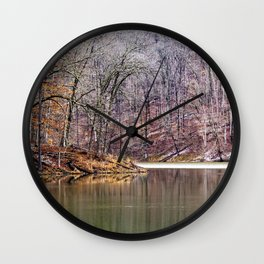 early spring in Ohio Wall Clock
