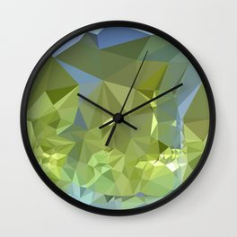 Limerick Green Abstract Low Polygon Background	 Wall Clock
