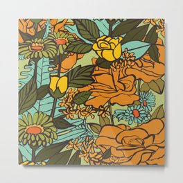 retro garden Metal Print