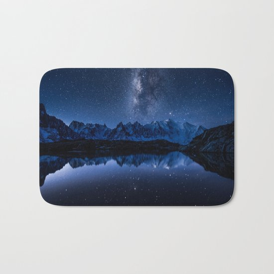 Night mountains Bath Mat