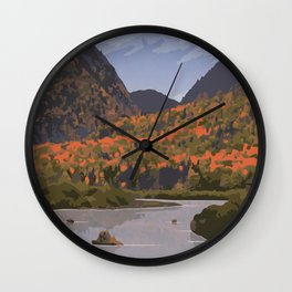 La Mauricie National Park Poster, Quebec Wall Clock