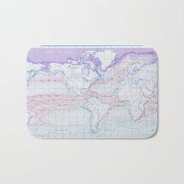 Map of Ocean Currents Bath Mat