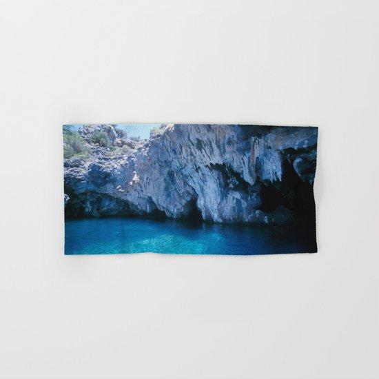 NATURE'S WONDER #5 - BLUE GROTTO (Turkey) #2 #art #society6 Hand & Bath Towel
