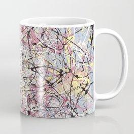 Crescendo - Jackson Pollock style abstract drip canvas art by Rasko Coffee Mug