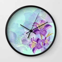 Purple Lilly Wall Clock