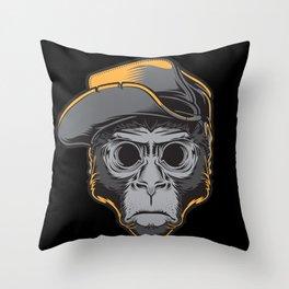 The Blackout Monkey Throw Pillow