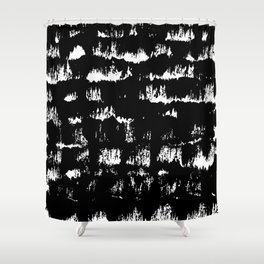 Black pattern#1 Shower Curtain