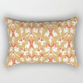 Pattern Pin-Up (gold) Rectangular Pillow