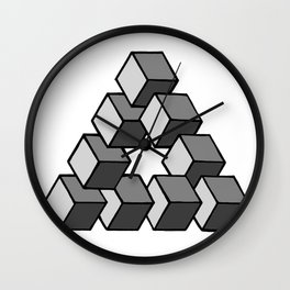 Impossible Cubes Wall Clock
