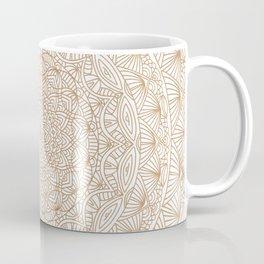 Brown Tan Intricate Detailed Hand Drawn Mandala Ethnic Pattern Design Coffee Mug