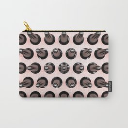 Black On Rose Gold Latex Spikes Carry-All Pouch