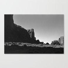 Hidden Skull in Monument Valley Canvas Print