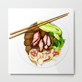 Wantan mee Metal Print