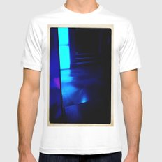 Blue Ship MEDIUM Mens Fitted Tee White