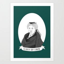Elizabeth Cady Stanton Illustrated Portrait Art Print