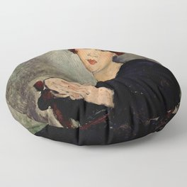 "Amedeo Modigliani ""Portrait of Dedie"" Floor Pillow"