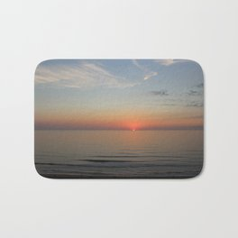 Ocean Sunrise First peek of the sun Bath Mat